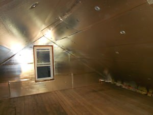 A Binghamton attic with SuperAttic installed.