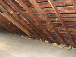 A New York attic before installation of SuperAttic