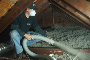Cellulose Insulation Installation In New York's Southern Tier