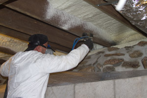 Spray Foam in the crawl space in Johnson City